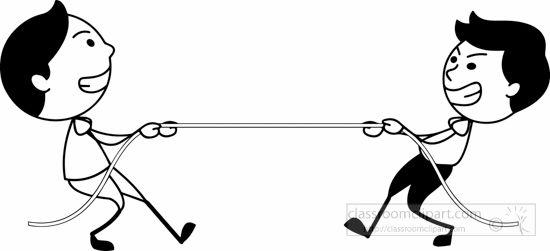 Tug Of War PNG Black And White Transparent Tug Of War Black.