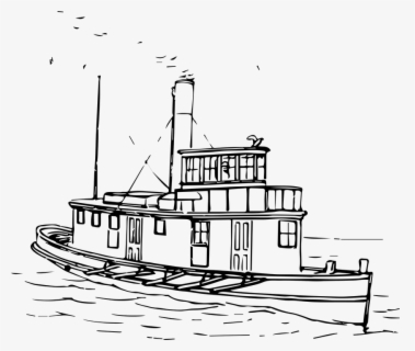 Free Sailboat Black And White Clip Art with No Background.
