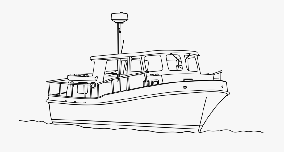 Tugboat Ship Coloring Book Motor Boats.