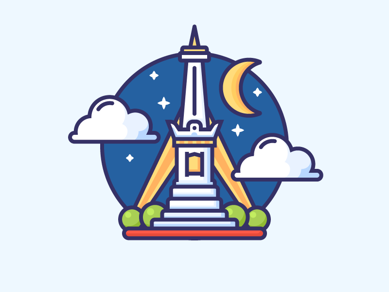 Icon of Tugu Yogyakarta by Bambang Dewanto on Dribbble.