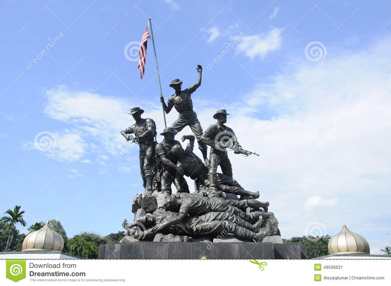 Tugu Negara A.k.a. National Monument In Malaysia Stock Photo.