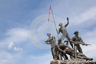 Tugu Negara Monument Malaysia Royalty Free Stock Photography.