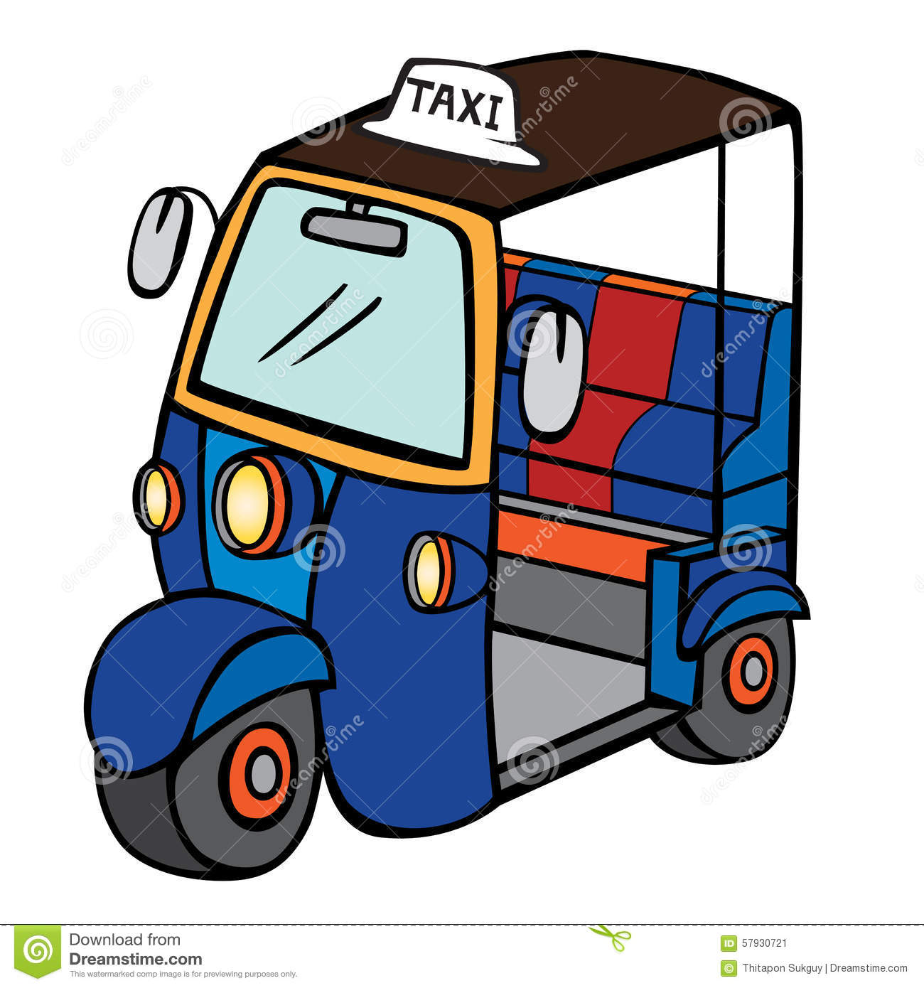 Tuktuk Stock Illustrations.