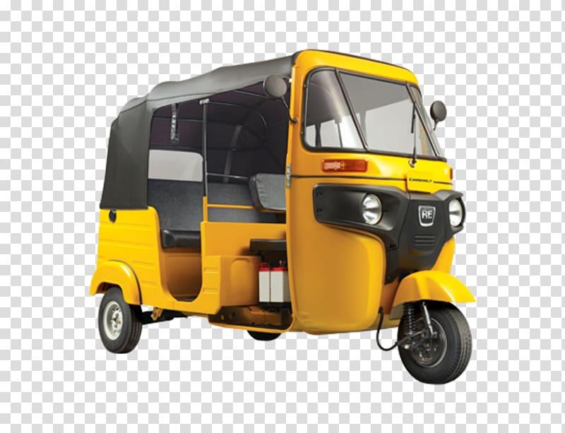 Yellow Bajaj RE autorickshaw, Auto rickshaw Bajaj Auto Car.