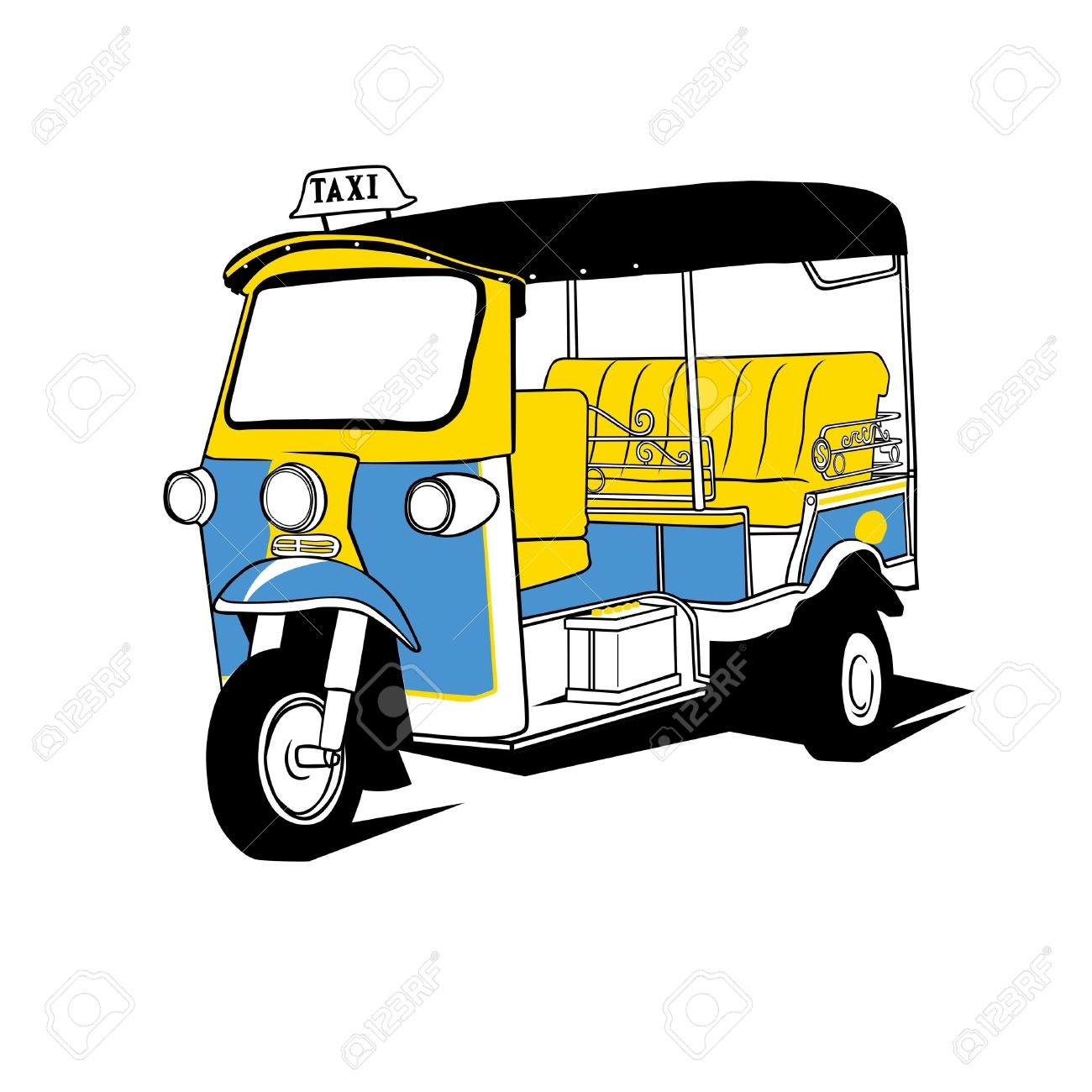 Tuktuk Taxi Thailand Royalty Free Cliparts, Vectors, And Stock.