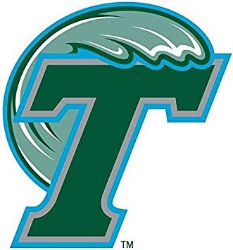 Tulane University Green Wave Logo Edible Cake Topper Image.