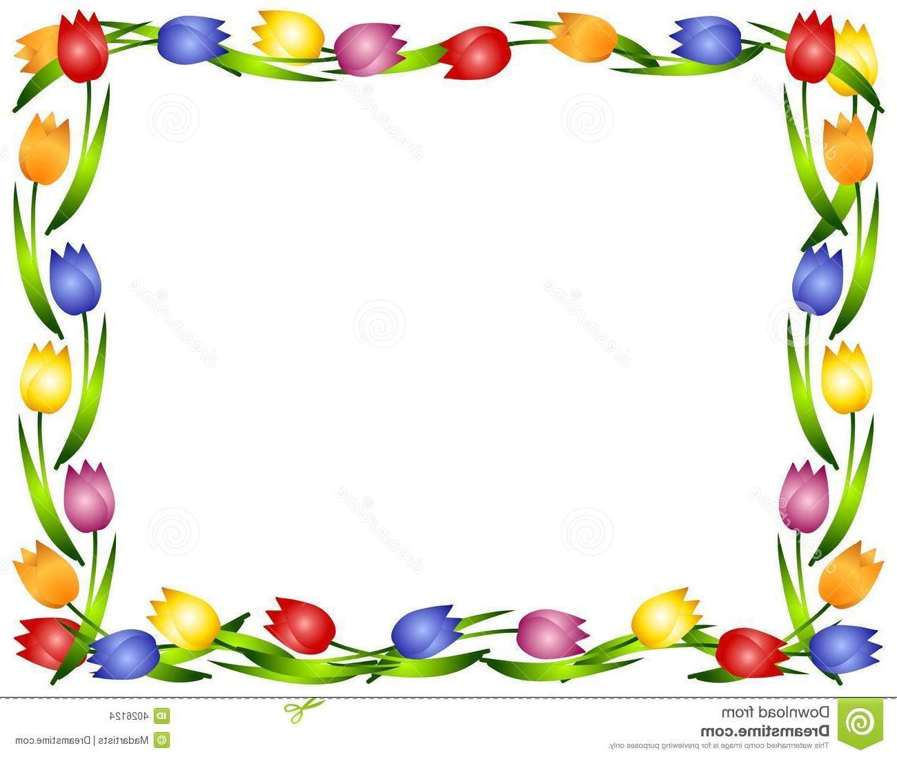 Tulip Clipart Border.