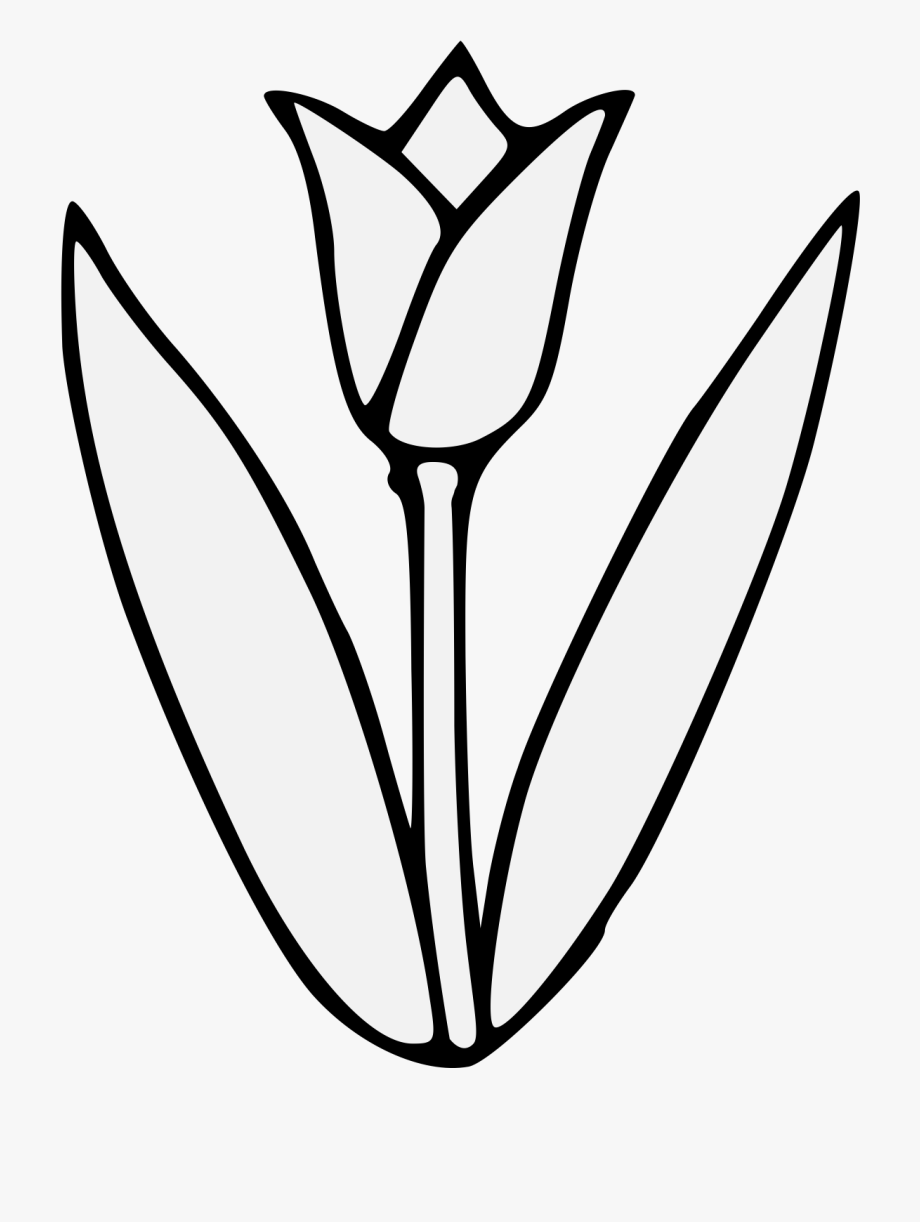 Download for free 15 PNG Tulip clipart black white top.