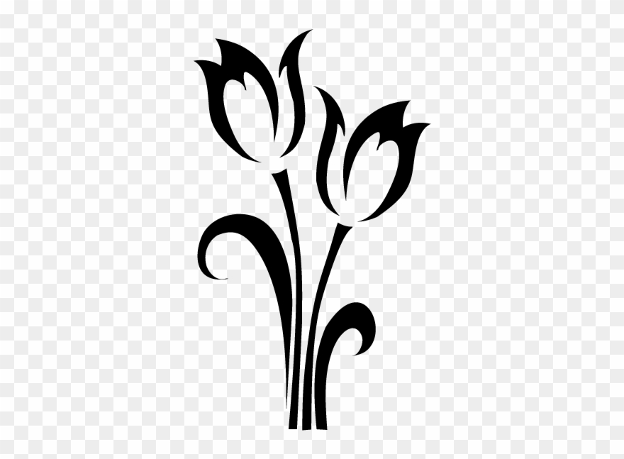 Tulip Drawing Outline Clipart (#275320).