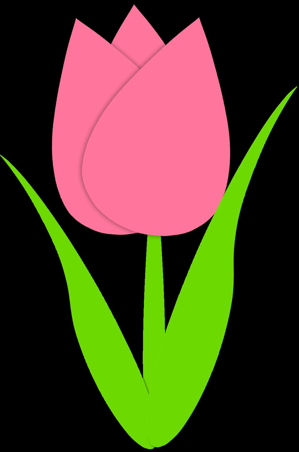 Simple Tulip Outline Simple tulip outline.
