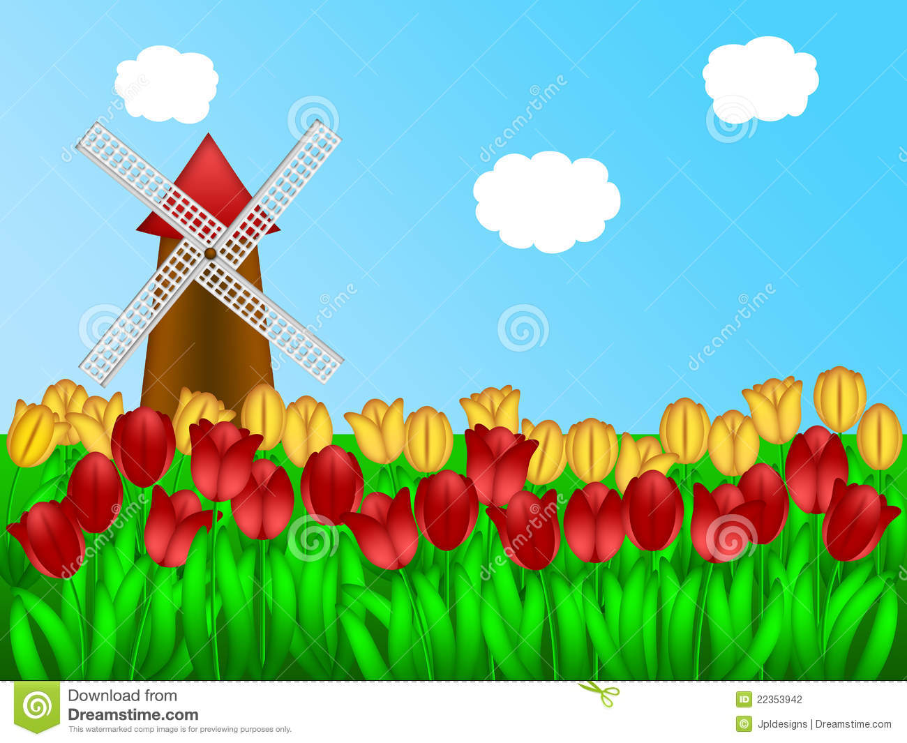 Clipart Tulip Field.