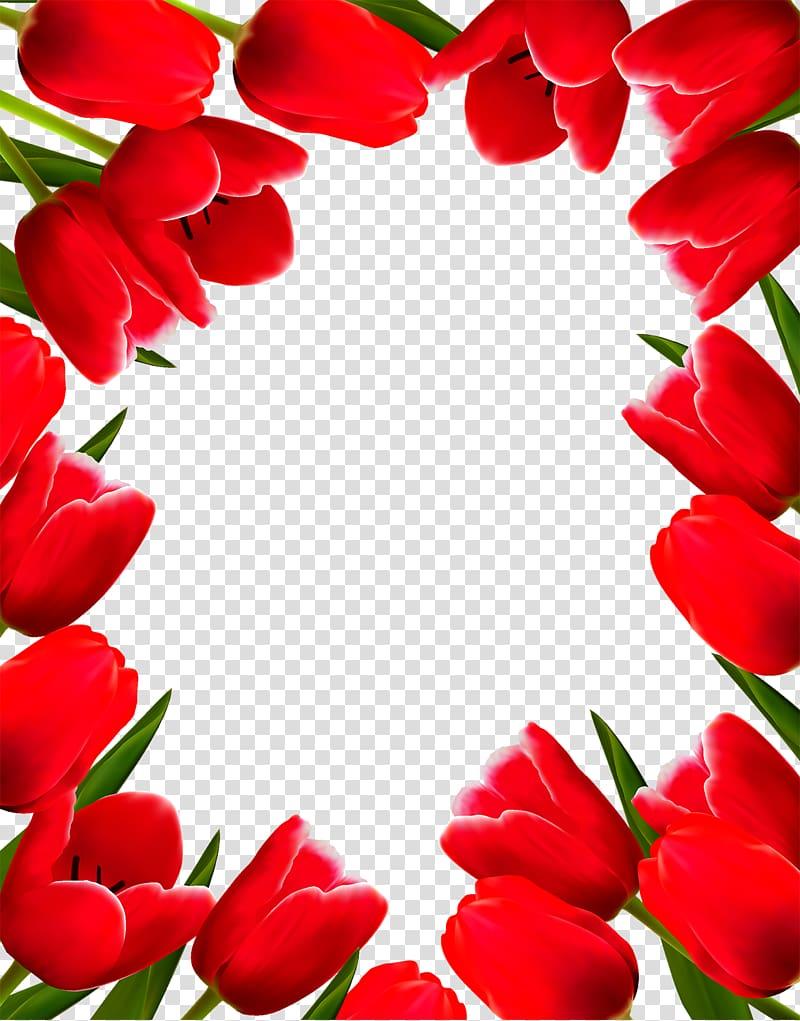 tulip flower border design clipart 10 free Cliparts ...