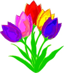 Tulip Flower Clip Art Free.