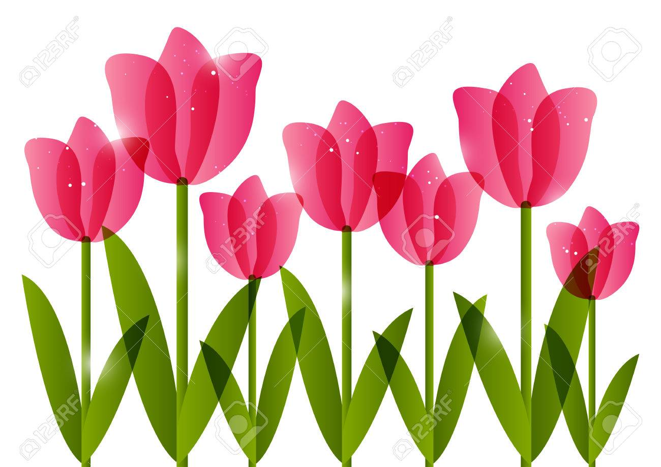 476 Tulips free clipart.