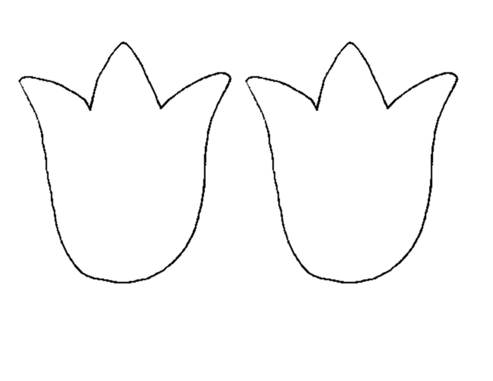 Tulip Outline Clipart Clipground