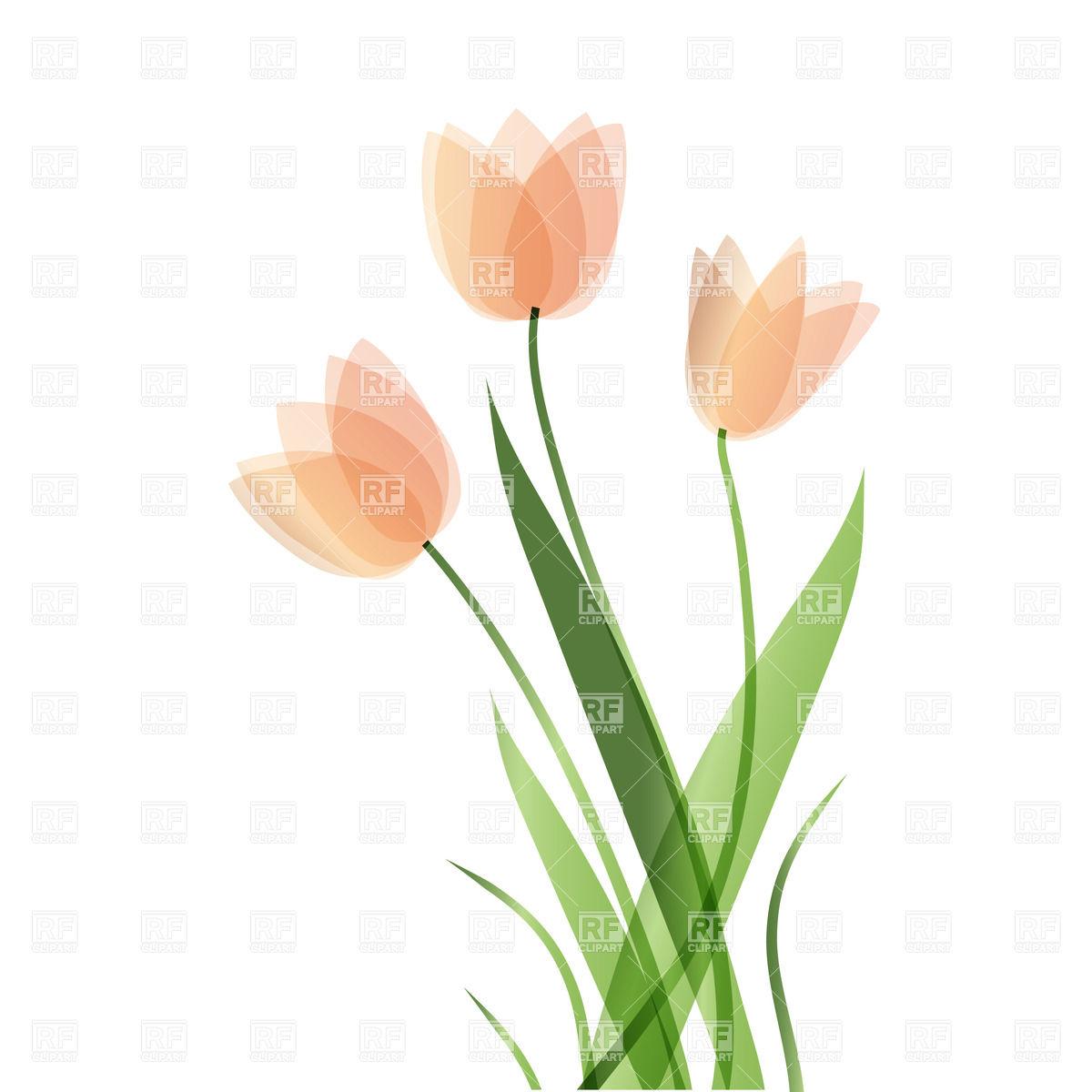 Tulip Border Clipart.