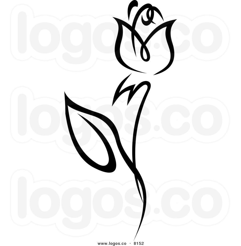 Tulip Clipart Black And White.