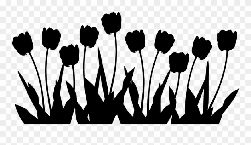 Tulip Silhouette Clipart (#3108567).