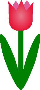 Tulip clip art Free Vector / 4Vector.
