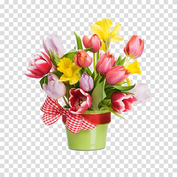 Red, pink, and yellow flowers , Flowerpot Flower bouquet.
