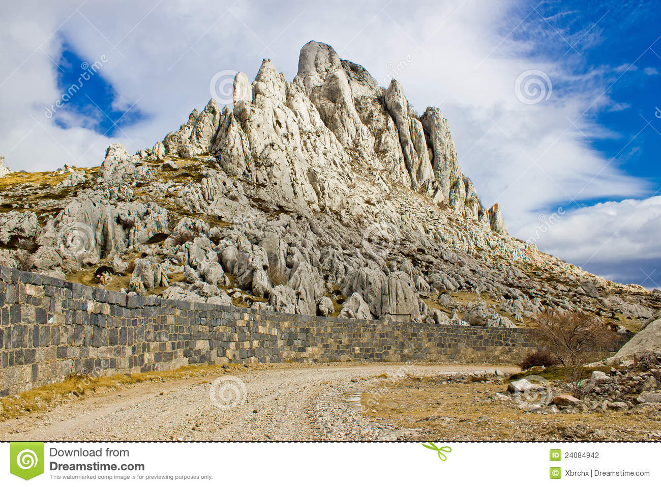 Tulove Grede Rocks On Velebit Mountain Stock Photography.