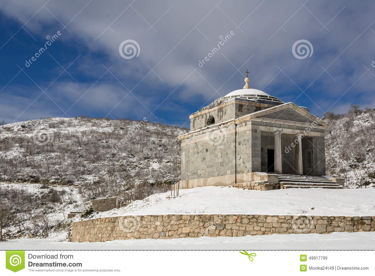 Chapel Of St. Francis On Tulove Grede , Croatia Stock Photo.