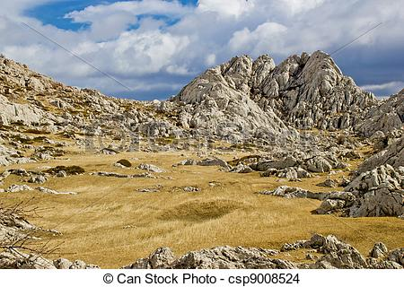 Stock Photo of Velebit mountain landscape near Tulove Grede.