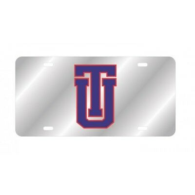 university of tulsa logo ncaa college silver laser license plate usa made.