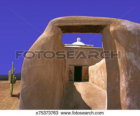 Stock Photo of Spanish mission, Tumacacori National Historic Park.