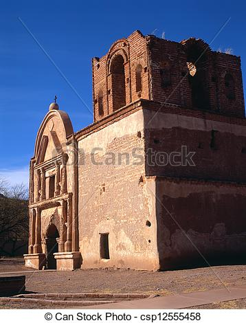 Stock Images of Tumacacori Mission Ruins.