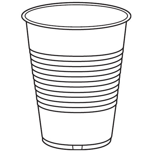 Solo Cup Black And White Clipart.