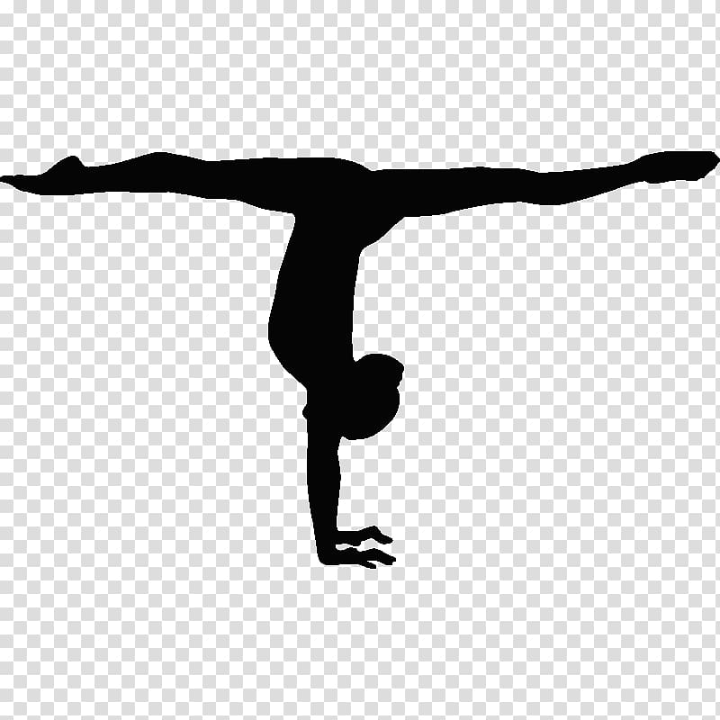 Woman touched the ground while leg on air illustration.