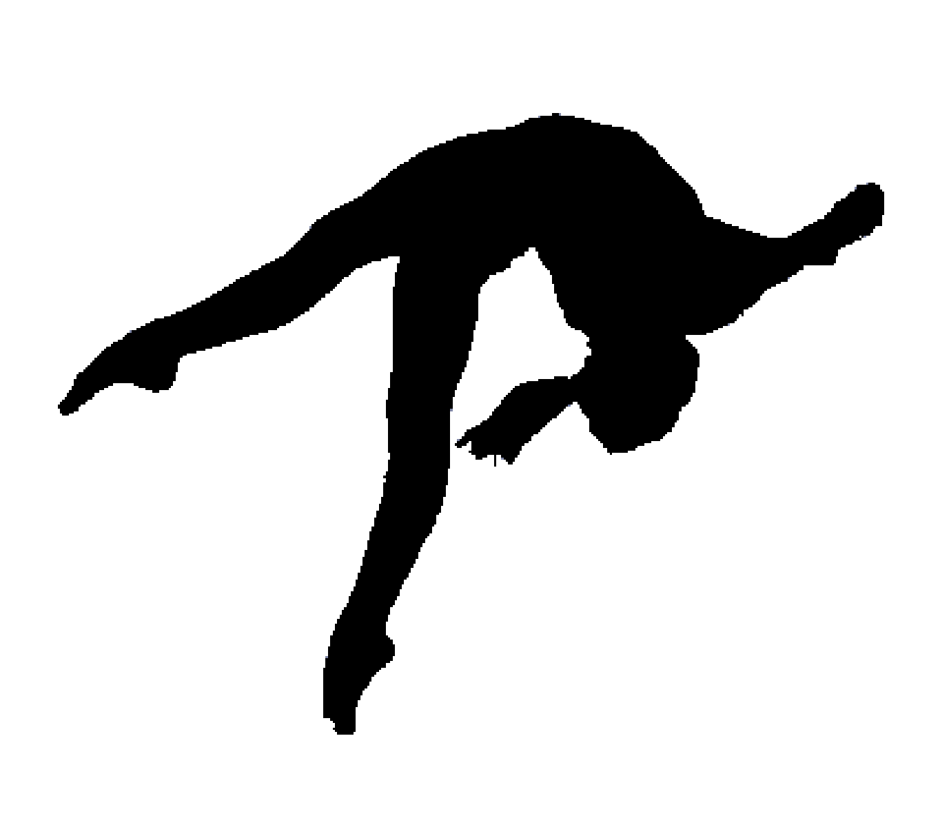 Gymnastics Silhouette Split Clip art.