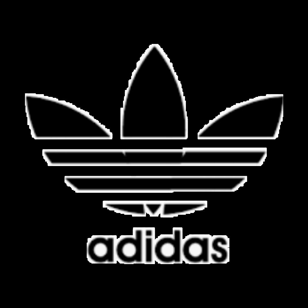 adidas black logo icon aesthetic tumblr sticker png.