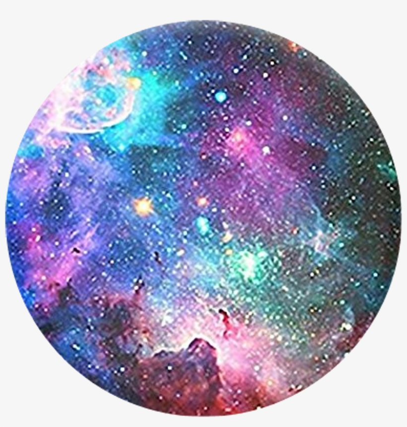 Galaxy Circle Moon Space Rainbow Aesthetic Tumblr Stars.