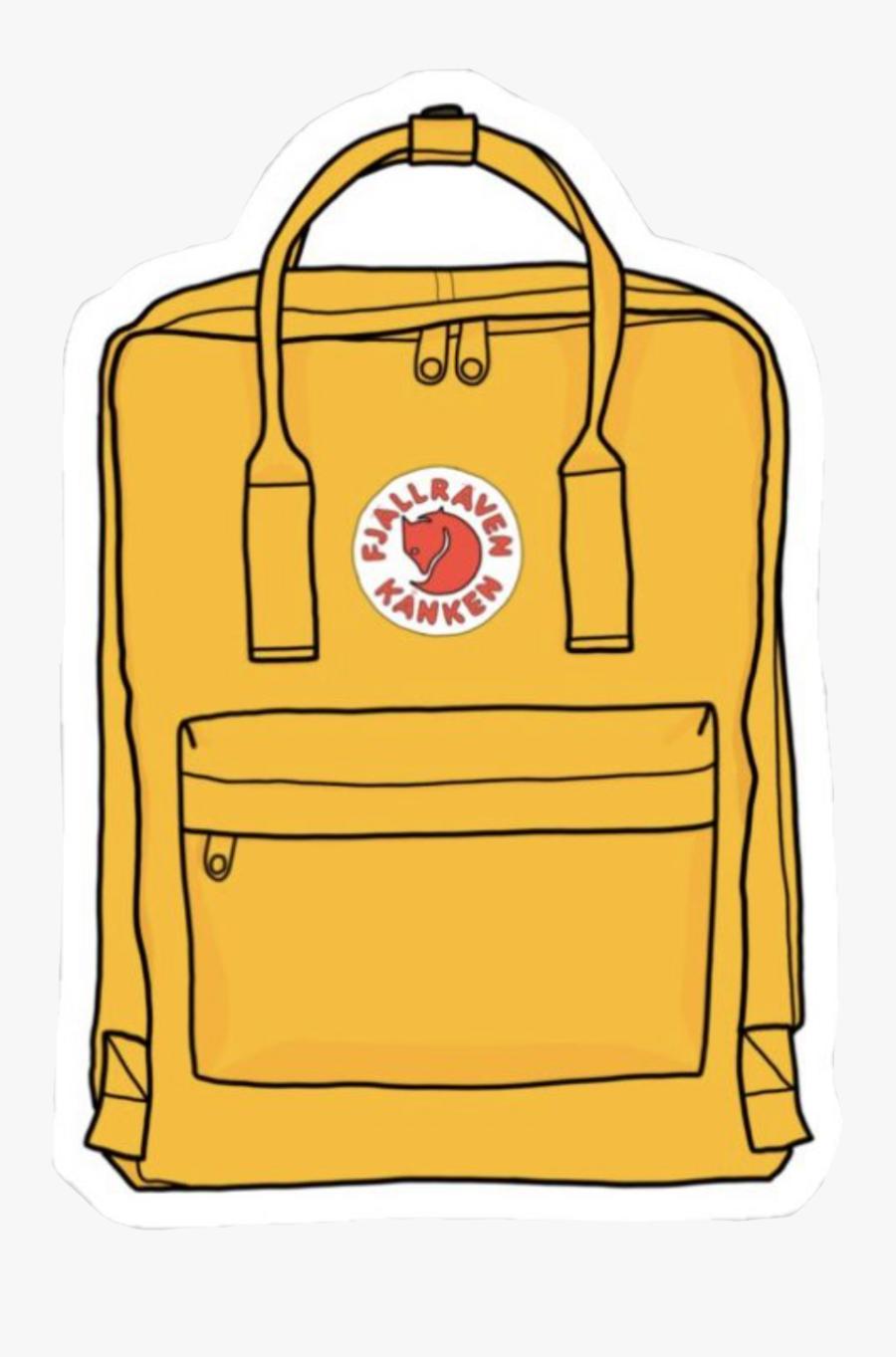 vsco #fjallravenkanken #vscogirl #backpack #yellow.