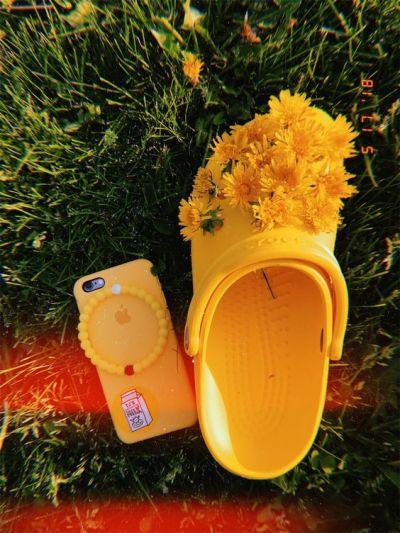 yellow phone case.