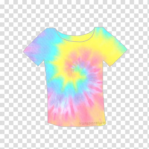 Pastel s, yellow, blue, and pink tie dye T.