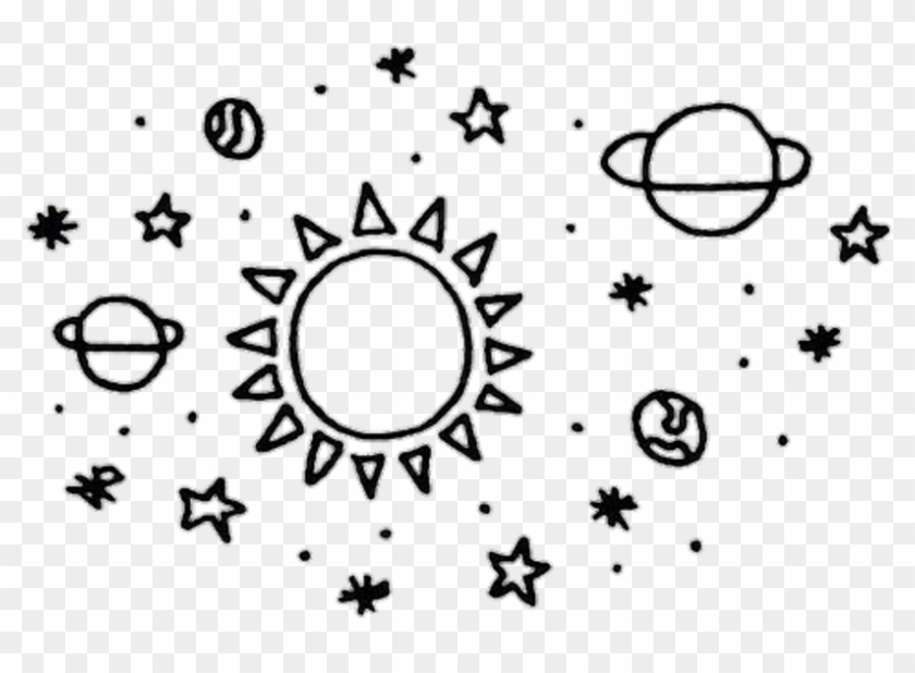 Moon Stars Sun Blackandwhite Space Black And White.