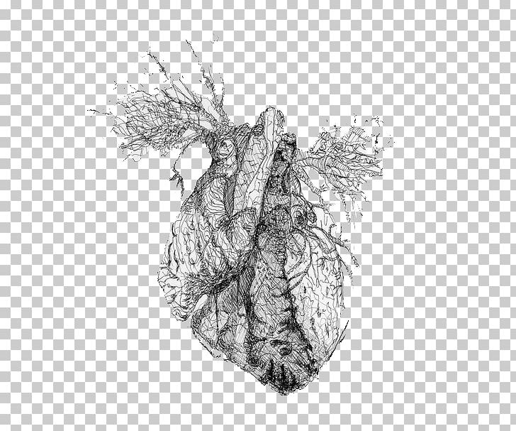 Drawing Tumblr Heart Blog PNG, Clipart, Anatomy, Black And.