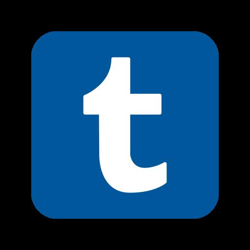 Tumblr Logo Icon of Flat style.