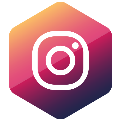 Colored, hexagon, high quality, instagram, media, social.
