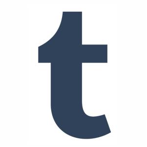 Logo Tumblr T Icon vector.