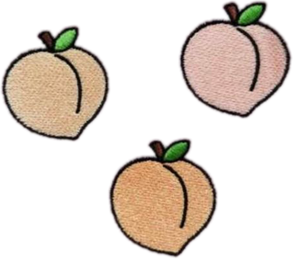 Peach Peachy Peaches Fruit Tumblr Patch Grunge Freetoed.