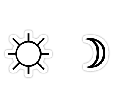 Sun and Moon minimalist aesthetic black and white tumblr.