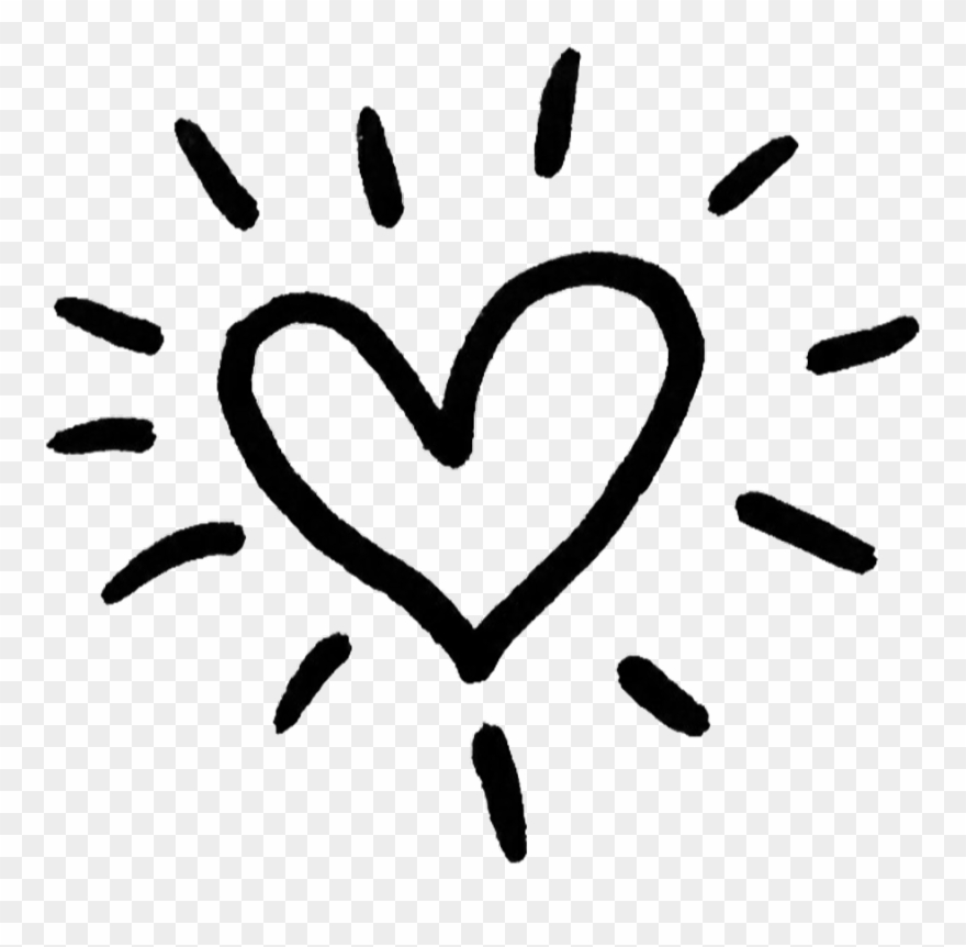 Cute Black Sticker Stickers Heart Overlay Transparent.