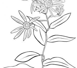 Tumbuhan Semak Garis Clip Art.