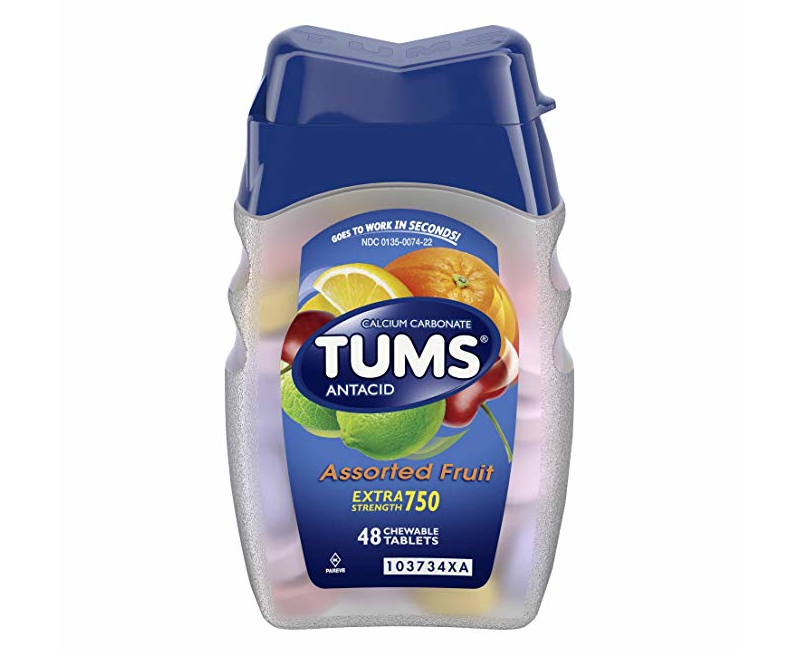 Tums Antacid Assorted Fruit Extra Strength 48 Chewable Tablets.