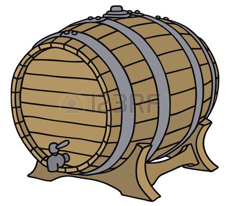Hand Drawing Of A Wooden Barrel Royalty Free Cliparts, Vectors.
