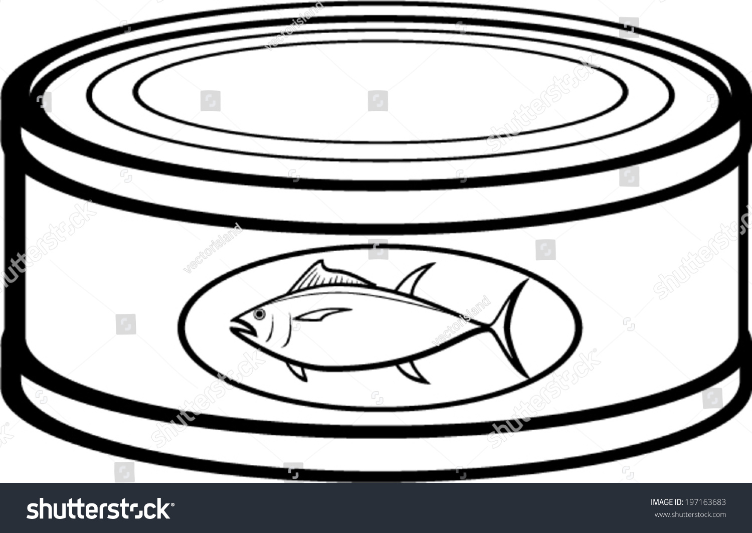 Tuna Can Stock Vector (Royalty Free) 19716 #446459.